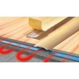 Prechodová lišta úzka laminovaná samolepiaca 40mm ALU - do 2m dĺžky